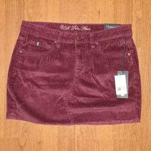 💚 U.S. POLO ASSN. Corduroy Burgundy Skirt
